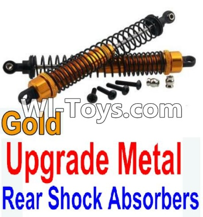 Wltoys 10428 Upgrade Metal Rear Shock Absorbers(2pcs)-Gold,Wltoys 10428 Parts