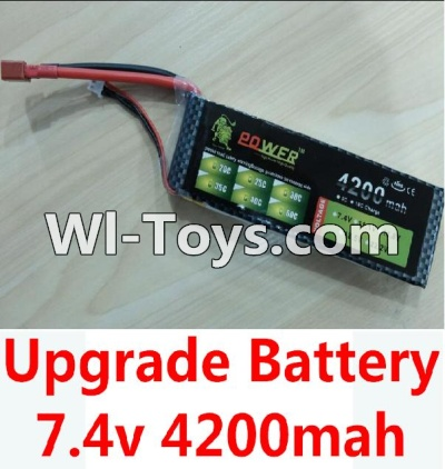 Wltoys 10428 Upgrade Battery-Upgrade 7.4v 4200mah battery with T-shape plug Parts,Wltoys 10428 Parts