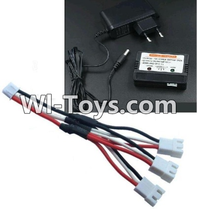 Wltoys K949 Upgrade 1-to-3 coversion Charging cable(1pcs) & Charger and Banlance charger,Wltoys K949 Parts