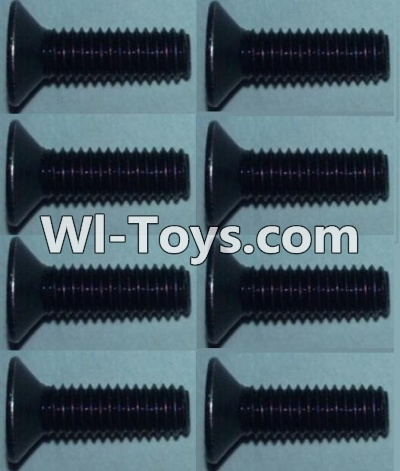 Wltoys 10428 Flat head inner hexagon Screws-M3X10-(8pcs),Wltoys 10428 Parts