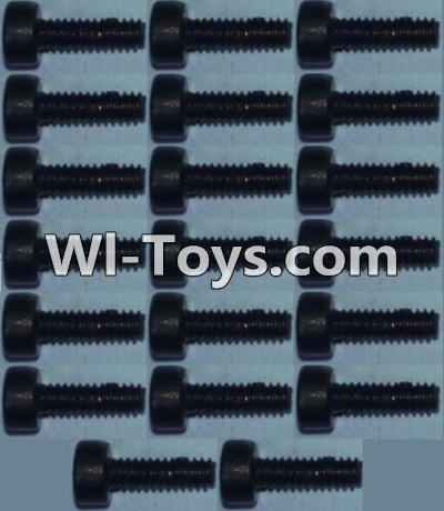 Wltoys 10428 Cup head inner hexagon Screws M2X6-(20pcs),Wltoys 10428 Parts