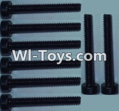 Wltoys 10428 Cup head inner hexagon Screws-M2X16-(8pcs),Wltoys 10428 Parts