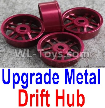 Wltoys K989 Upgrade Metal Drift Hub Parts(4pcs)(Can only match the Drift Tire lether)-Purple,Wltoys K989 Parts