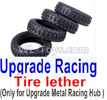 Wltoys K989 Upgrade Racing Tire lether(4pcs)-Can only match the Upgrade Metal Racing Hub,Wltoys K989 Parts