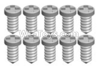 Wltoys K969 screws Parts(10pcs)-1.2X3PA- K989-12,Wltoys K696 Parts