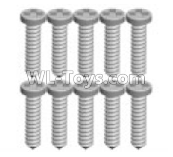 Wltoys P939 screws Parts(10pcs)-1.3X7PB-P939-16,Wltoys P939 Parts