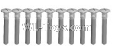 Wltoys K969 screws Parts(10pcs)-M1.5X14PB-Half tooth-K989-18,Wltoys K696 Parts