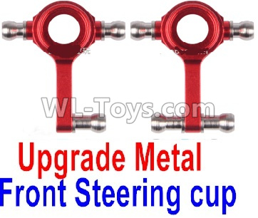 Wltoys K989 Upgrade Metal Front Steering Cup Parts(2pcs)-Red,Wltoys K989 Parts