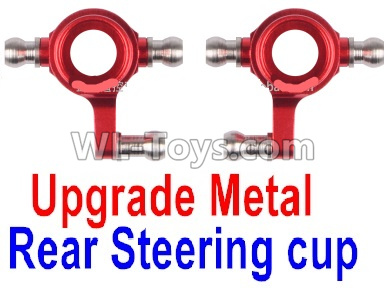 Wltoys K989 Upgrade Metal Rear Steering Cup Parts(2pcs)-Red,Wltoys K989 Parts