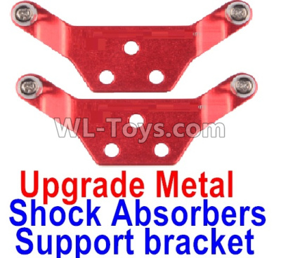 Wltoys K989 Upgrade Metal Shock Absorbers Parts Support bracket(2pcs)-Red,Wltoys K989 Parts