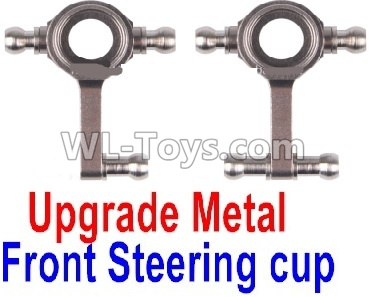 Wltoys K989 Upgrade Metal Front Steering Cup Parts(2pcs)-Gray,Wltoys K989 Parts