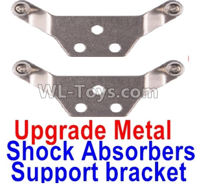 Wltoys K989 Upgrade Metal Shock Absorbers Parts Support bracket(2pcs)-Gray,Wltoys K989 Parts