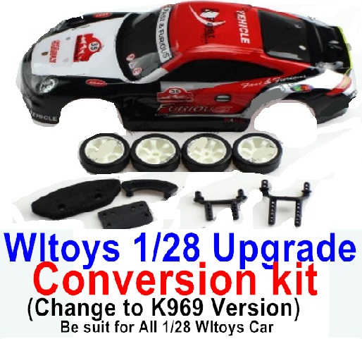 Wltoys K969 Upgrade Conversion kit-Upgrade K969 Version,Be suit for All Wltoys 1/28 Wltoys Car