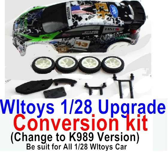 Wltoys K969 Upgrade Conversion kit-Upgrade K989 Version,Be suit for All Wltoys 1/28 Wltoys Car