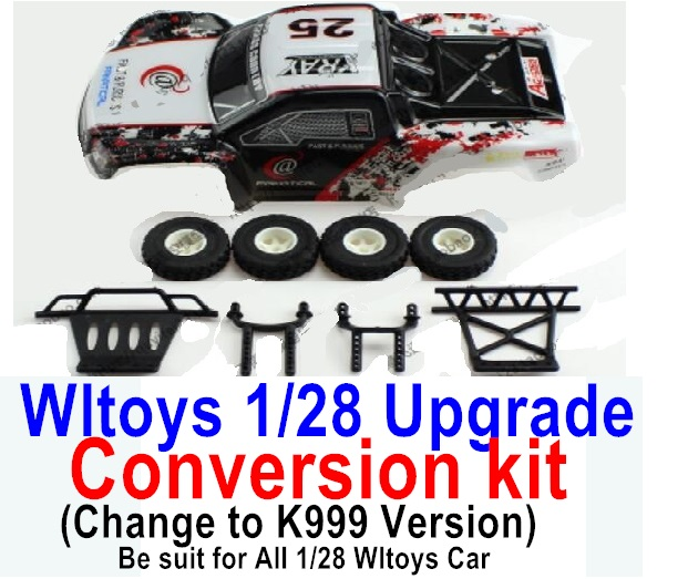 Wltoys K969 Upgrade Conversion kit-Upgrade K999 Version,Be suit for All Wltoys 1/28 Wltoys Car