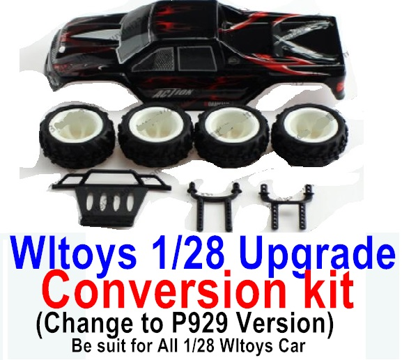 Wltoys P929 Upgrade Conversion kit-Upgrade P929 Version-Black color,Be suit for All Wltoys 1/28 Wltoys Car