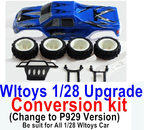 Wltoys P929 Upgrade Conversion kit-Upgrade P929 Version-Blue color,Be suit for All Wltoys 1/28 Wltoys Car