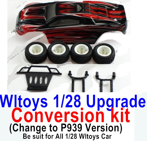 Wltoys K969 Upgrade Conversion kit-Upgrade P939 Version-Red color,Be suit for All Wltoys 1/28 Wltoys Car