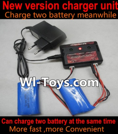 Wltoys L303 Upgrade new version charger and Balance charger(Can charge two battery at the same time,Not include the 2x battery),Wltoys L303 RC Car Spare Parts Replacement Accessories,1:10 Scale 4wd,2.4G L303 rc racing car Parts,On Road D