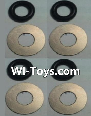 Wltoys L303 K949-70 Flat gasket(4pcs)-5.2x10x0.3mm & O-shape ring(4pcs)-4.5x8.5x2mm Parts,Wltoys L303 Parts