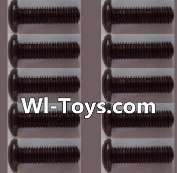 Wltoys L303 A929-74 pan head Hexagon head screws Parts(10pcs)-M3x12TMHO Parts,Wltoys L303 Parts