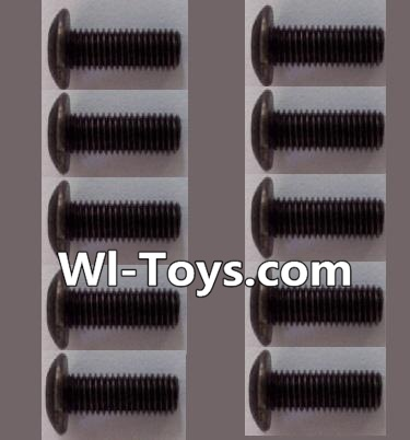 Wltoys L303 A929-75 pan head Hexagon head screws Parts(10pcs)-M3x10TMHO Parts,Wltoys L303 Parts