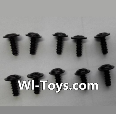 Wltoys L353 Round head self-tapping screws Parts with mediator(10pcs)-M2X6-mediator 5,Wltoys L353 Parts