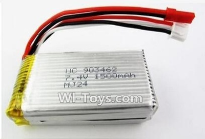 Wltoys L979 Battery-Official 7.4v 1500mah battery with JST Plug(Can only be Used for L979)