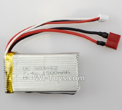 Wltoys L222 Official 7.4v 1500mah battery with T shape Plug(Can only be Used for L222) Parts