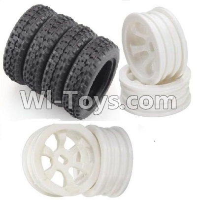 Wltoys P939 Rally tire Parts-4pcs-(27.5X8.5mm) & Wheel hub Parts-4pcs
