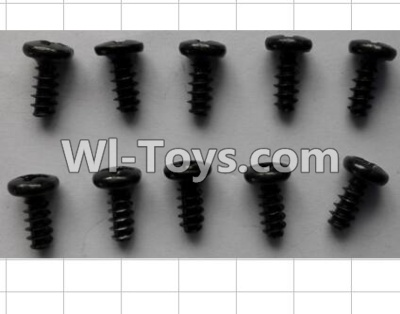 Wltoys P949 Round Head self-tapping Screws(10pcs)-M3X7,Wltoys P949 Parts