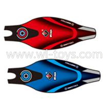 WLtoys V393 Parts-Upper shell cover,Upper canopy-Blue(1pcs) and Red(1pcs)