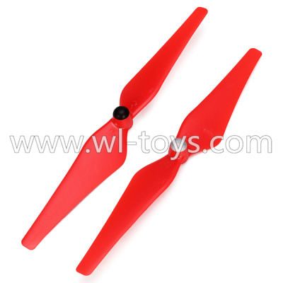 WLtoys V393 Parts-Upgrade Main rotor baldes(2pcs 1x Clockwise and 1x Counterclockwise)-Red