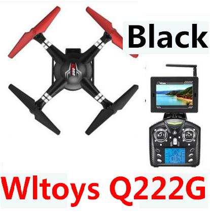 Wltoys Q222G Quadcopter-Black(Include the 5.8G HD Camera,Support frame And 5.8G Real-time image transmission FPV Aerial Receiving Screen with Antena)
