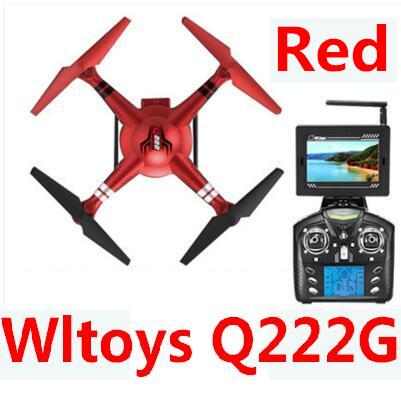 Wltoys Q222G Quadcopter-Red(Include the 5.8G HD Camera,Support frame And 5.8G Real-time image transmission FPV Aerial Receiving Screen with Antena)