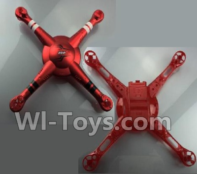 Wltoys Q222K Q222G Upper and Bottom shell cover-Red,Wltoys Q222K Q222G RC Drone Parts,Q222K RC Quadcopter Parts