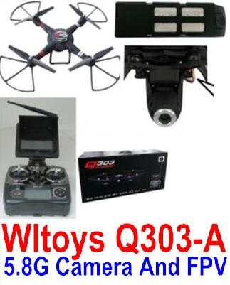 Wltoys Q303-A Quadcopter Drone-5.8G FPV(Include the 5.8G HD Camera,Support frame And 5.8G Real-time image transmission FPV Aerial Receliving Screen with Antena) FPV-Quadcopter-all Wltoys-Quadcopter-all
