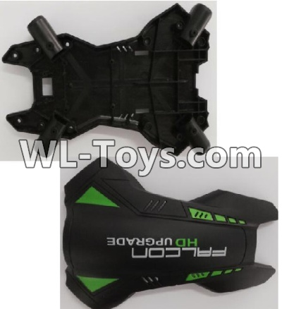 Wltoys Q323 Upper and bottom body shell cover,Wltoys Q323 Parts,Wltoys Q323-B Q323-C Q323-E Parts