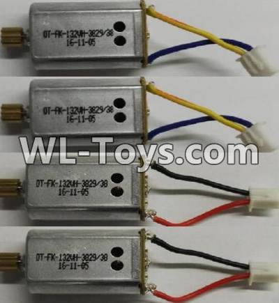 Wltoys Q323 Motor Parts-Reversing-rotating Motor with Black and Yellow wire(2pcs) & rotating Motor with red and Black wire(2pcs),Wltoys Q323 Parts,Wltoys Q323-B Q323-C Q323-E Parts