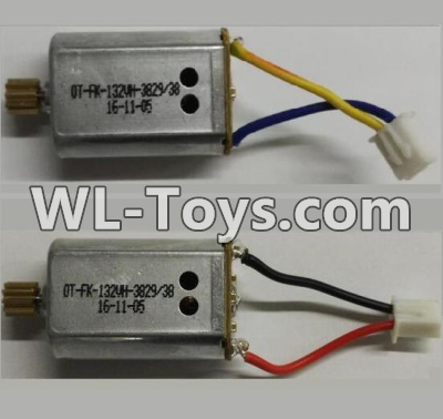 Wltoys Q323 Reversing-rotating Motor with Black and Yellow wire(1pcs) & rotating Motor with red and Black wire(1pcs),Wltoys Q323 Parts,Wltoys Q323-B Q323-C Q323-E Parts