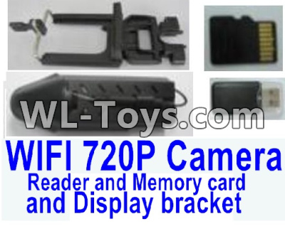 Wltoys Q323 Q323E HD WIFI 720P Camera unit Parts & Display bracket & USB Reader and Memory card,Wltoys Q323 Parts,Wltoys Q323-B Q323-C Q323-E Parts