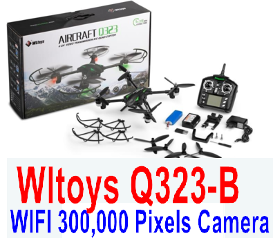 Wltoys Q323-B RC Quadcopter (Include the Ordinary Wifi 300,000 Pixels Camera unit Parts and Mobile phone support frame),Wltoys Q323 RC Quadcopter Drone