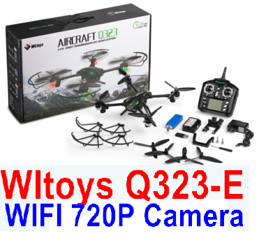 Wltoys Q323-E Quadcopter (Include the HD Wifi 720P Camera unit Parts and Mobile phone support frame),Wltoys Q323 RC Quadcopter Drone