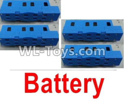Wltoys Q626 Q626-B Lipo Battery Parts(4pcs)-Blue,Wltoys Q626 Q626-B Parts