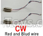 Wltoys-Q838-E Main motor with Red and Blue wire(2pcs-CW,Clockwise)-Q838-E-17,Wltoys Q838-E Parts,Wltoys Q838-E RC Drone Parts