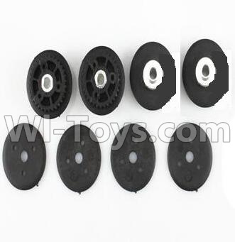 Wltoys V383 The Two level Leather belt Wheel Cover Parts-(8pcs),Wltoys V383 Parts