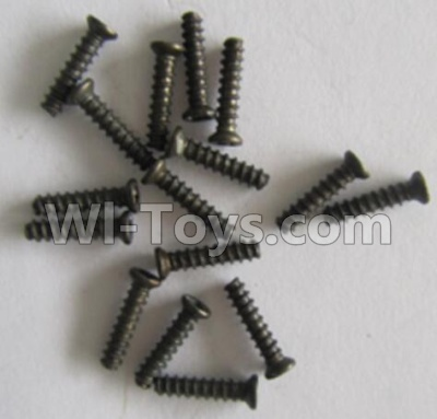 Wltoys V383 screws Parts 12,Cross groove Pan head screws Parts(ST2X8PW)-Total 16pcs Parts,Wltoys V383 Parts