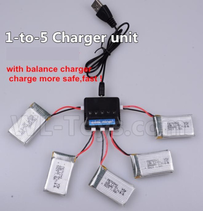 Wltoys V911S Upgrade 1-to-5 charger and balance charger(Not include the 5 battery),Wltoys V911 Parts