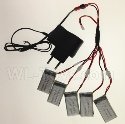 Wltoys V911S USB Charger wire & Upgrade 1-to-5 Conversion wire & USB-to-Socket Conversion plug((Not include the 5 battery),Wltoys V911 Parts