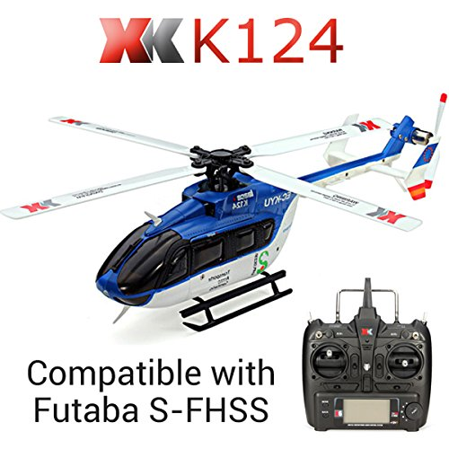 XK K124 Helicopter EC145 6CH Flybarless RC Helicopter,Wltoys XK K124